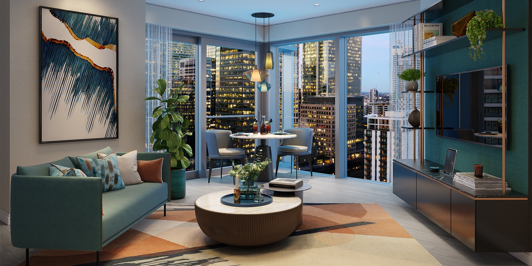 One bedroom at aspen canary wharf